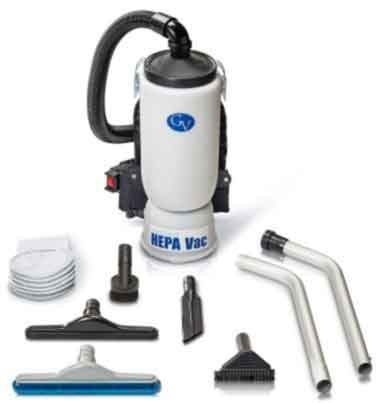 6 Qt Backpack Vacuum with Commercial Tool Kit