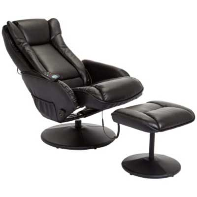JC Home Drammen Massaging Leather Recliner