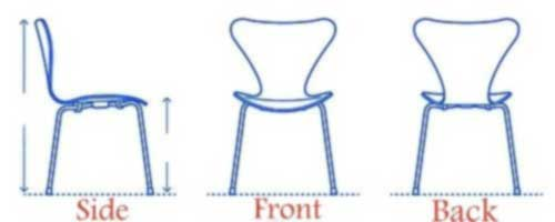 Dimensions of Chair