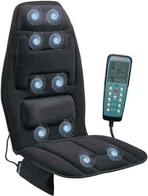 Relaxzen 10-Motor Massage Seat Cushion with Heat