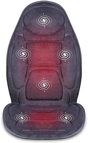 SNAILAX Vibration Massage Seat Cushion with Heat 6 Vibrating Motors